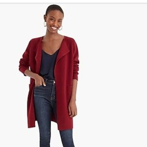J.Crew Juliette collarless sweater-blazer NWT